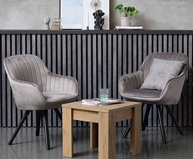 Fåtölj mfotpall ARDEN grå | JYSK | Stolar, Fåtölj, Vardagsrum